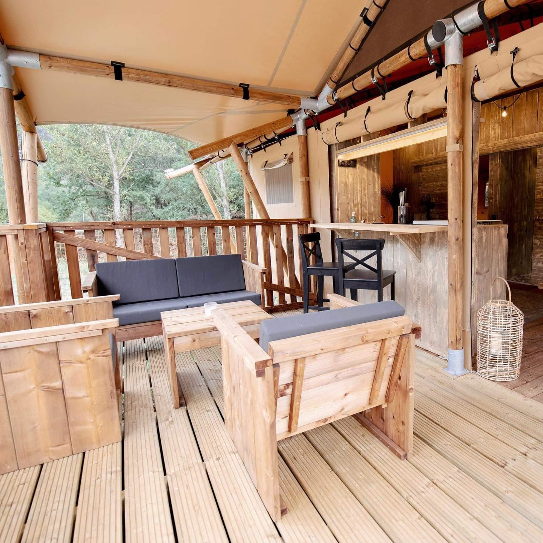 Location - Tente Lodge Luxe - 2 Chambres - Camping Du Domaine de Massereau