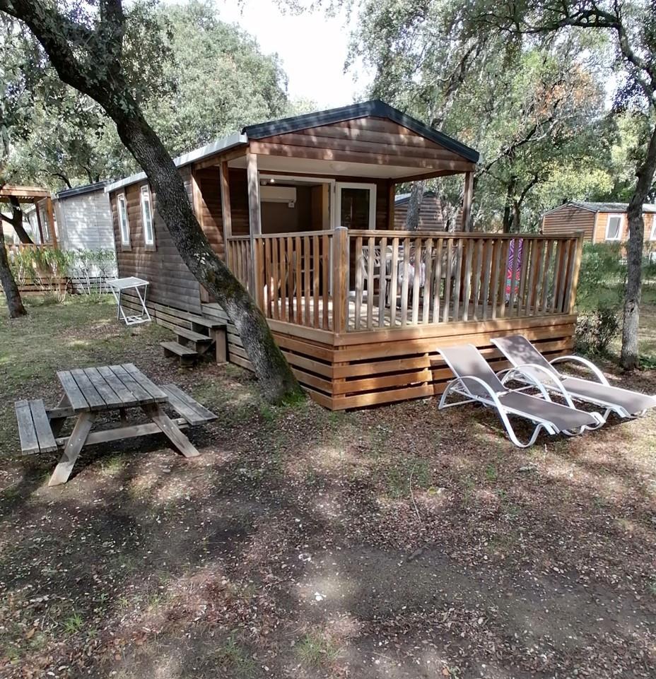 Location - Mobil-Home Rencontre - 2 Chambres - Camping Du Domaine de Massereau