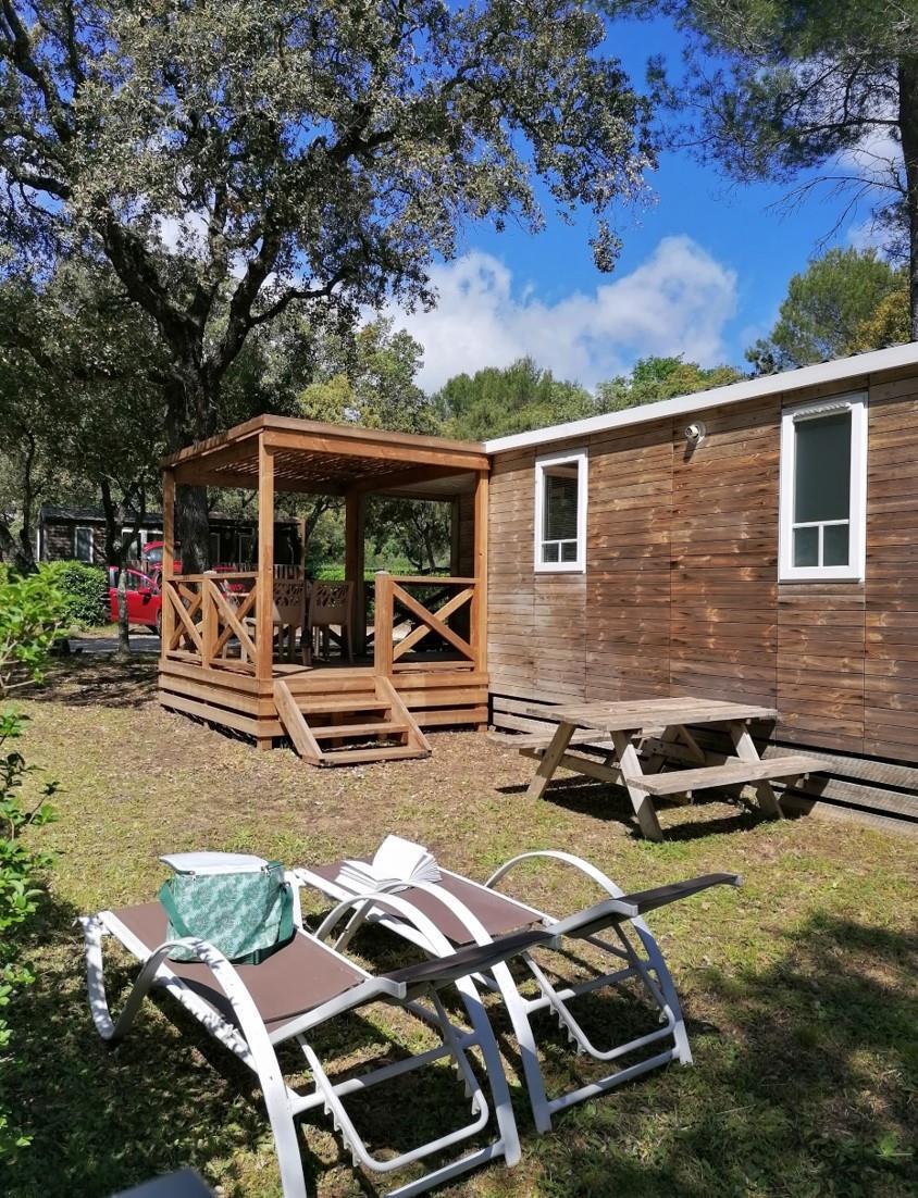 Location - Mobil-Home Héritage - 2 Chambres - Camping Du Domaine de Massereau