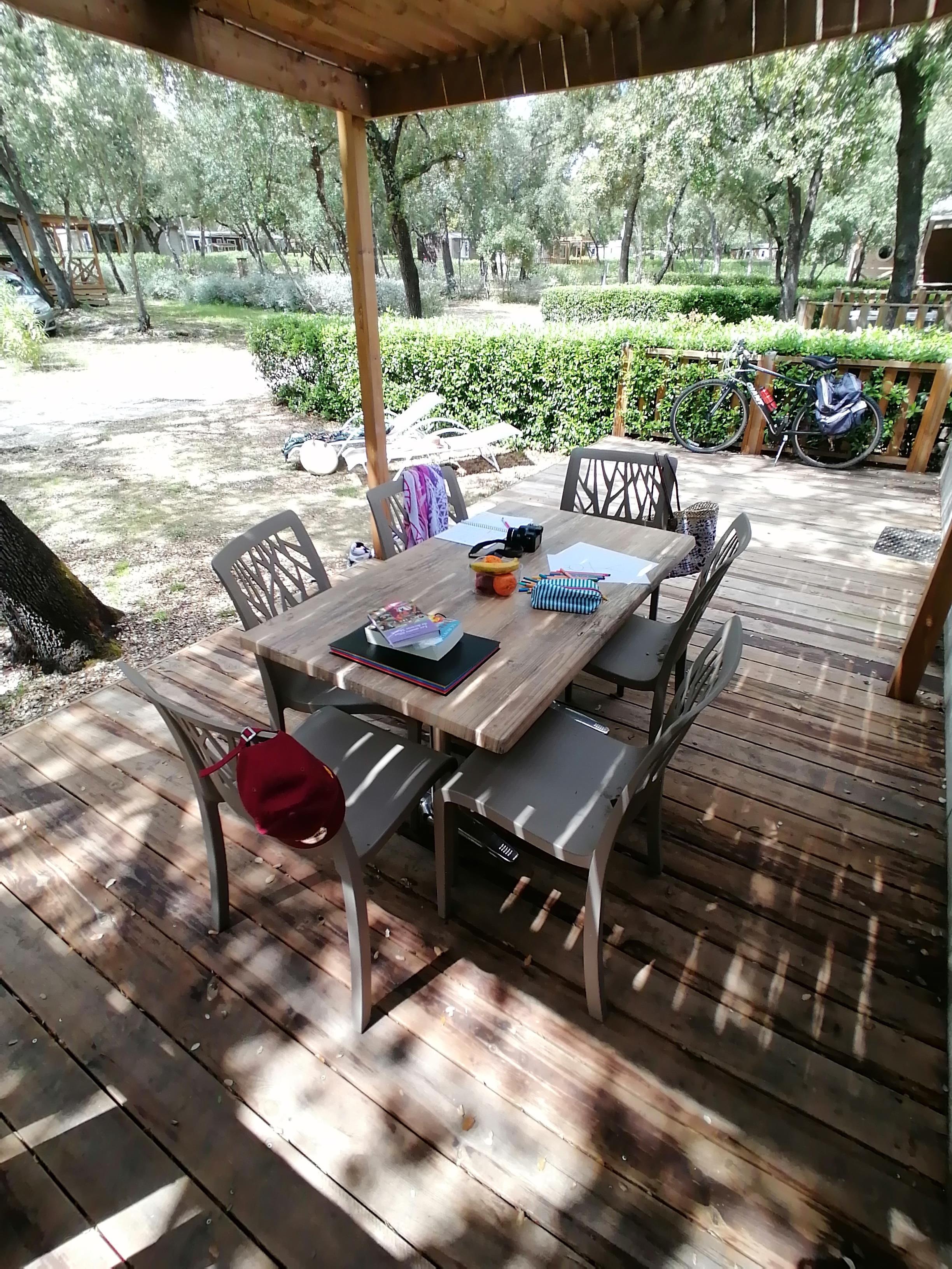 Location - Mobil-Home Héritage - 3 Chambres - Camping Du Domaine de Massereau