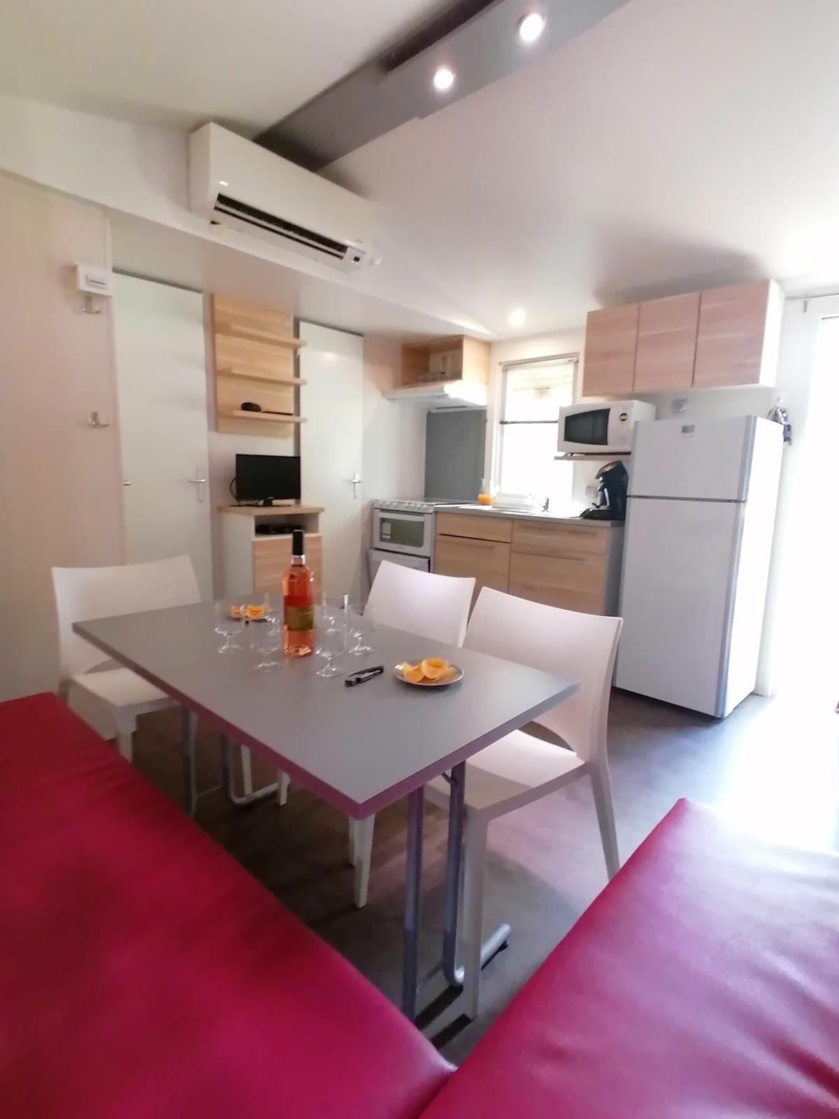 Location - Mobil-Home Héritage Premium - 3 Chambres - Camping Du Domaine de Massereau