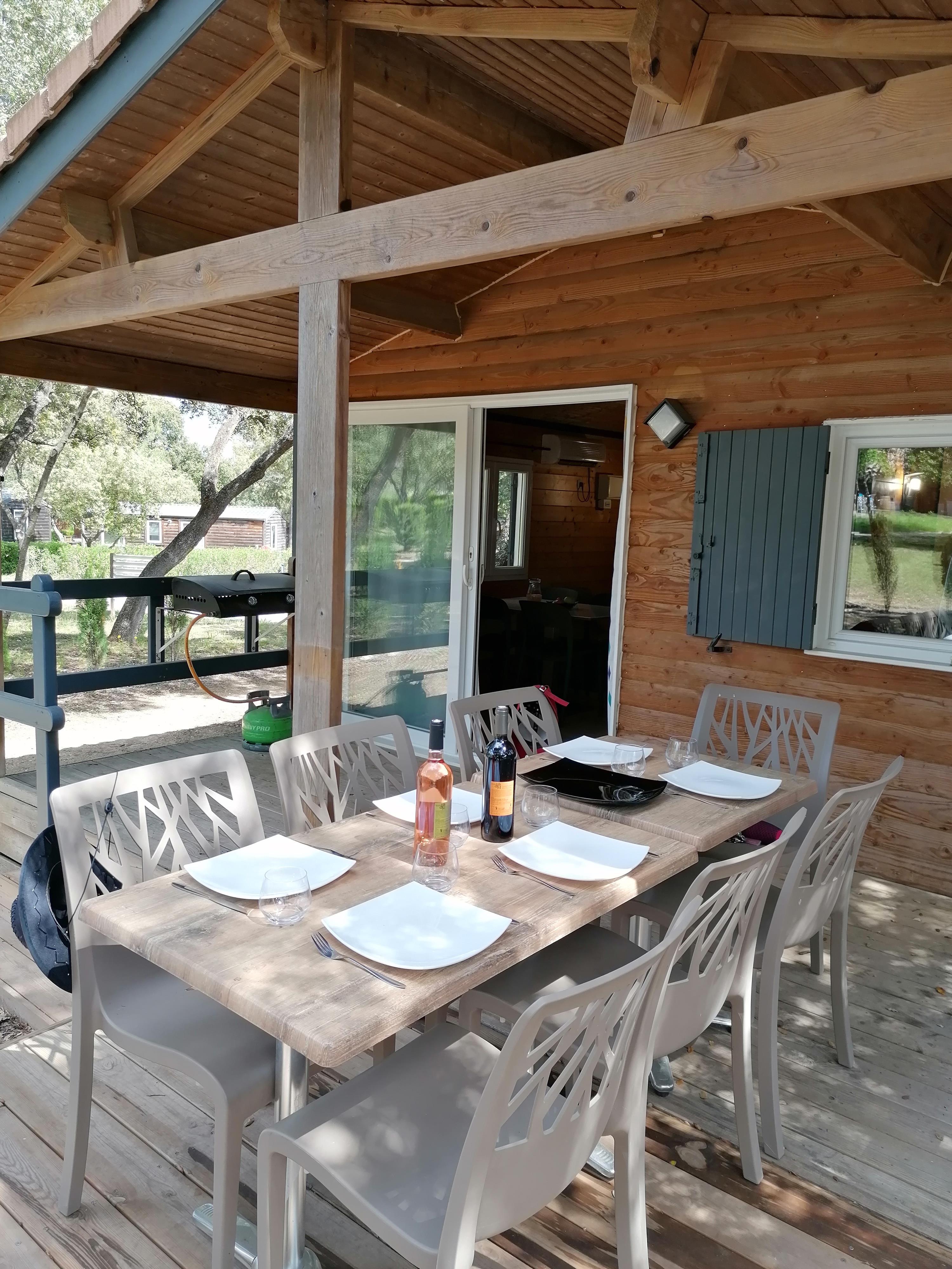 Location - Chalet - 3 Chambres - Camping Du Domaine de Massereau