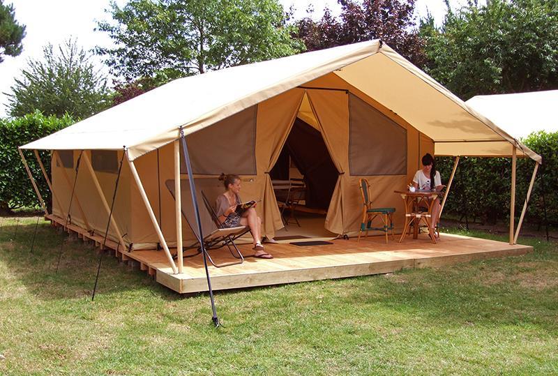 Location - Tente Meublée Safari 2 Chambres** - Camping Mané Guernehué
