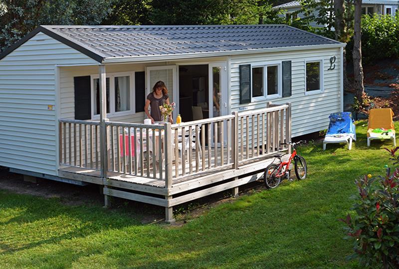 Location - Cottage Pacifique*** 4 Pers. 2 Chambres Terrasse Couverte - Camping Mané Guernehué