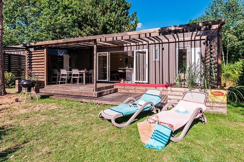 Location - Cottage Zen Premium 5 Pers. 2 Chambres 2 Salles De Bain - Camping Mané Guernehué