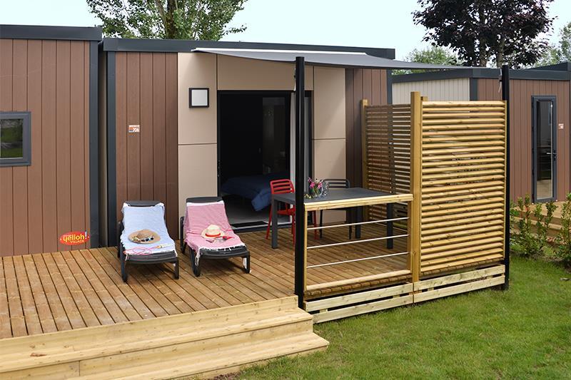 Location - Patio Belle Ile Suite**** 2Pers. 1 Chambre - Camping Mané Guernehué
