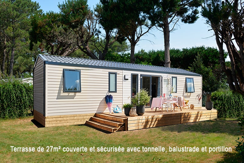 Location - Cottage Grand Large*** 8 Pers. 4 Chambres - Camping Mané Guernehué