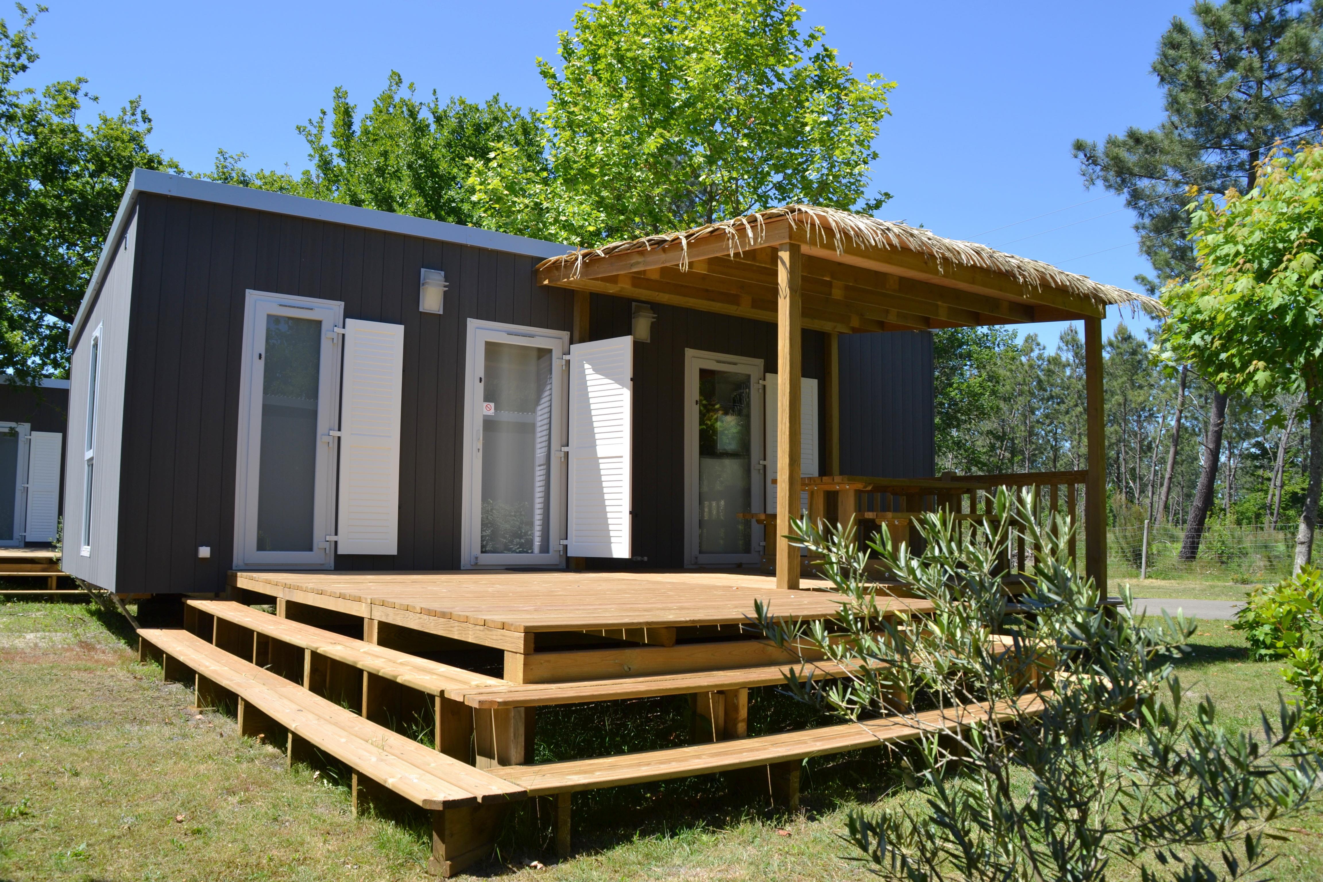 Location - Mobil Home Ciela Prestige - 35M² - 1 Suite Parentale- Chambre-  Salles De Bain- Climatisation - Tv - Lave Vaisselle - Draps Inclus - Camping Resort La Rive