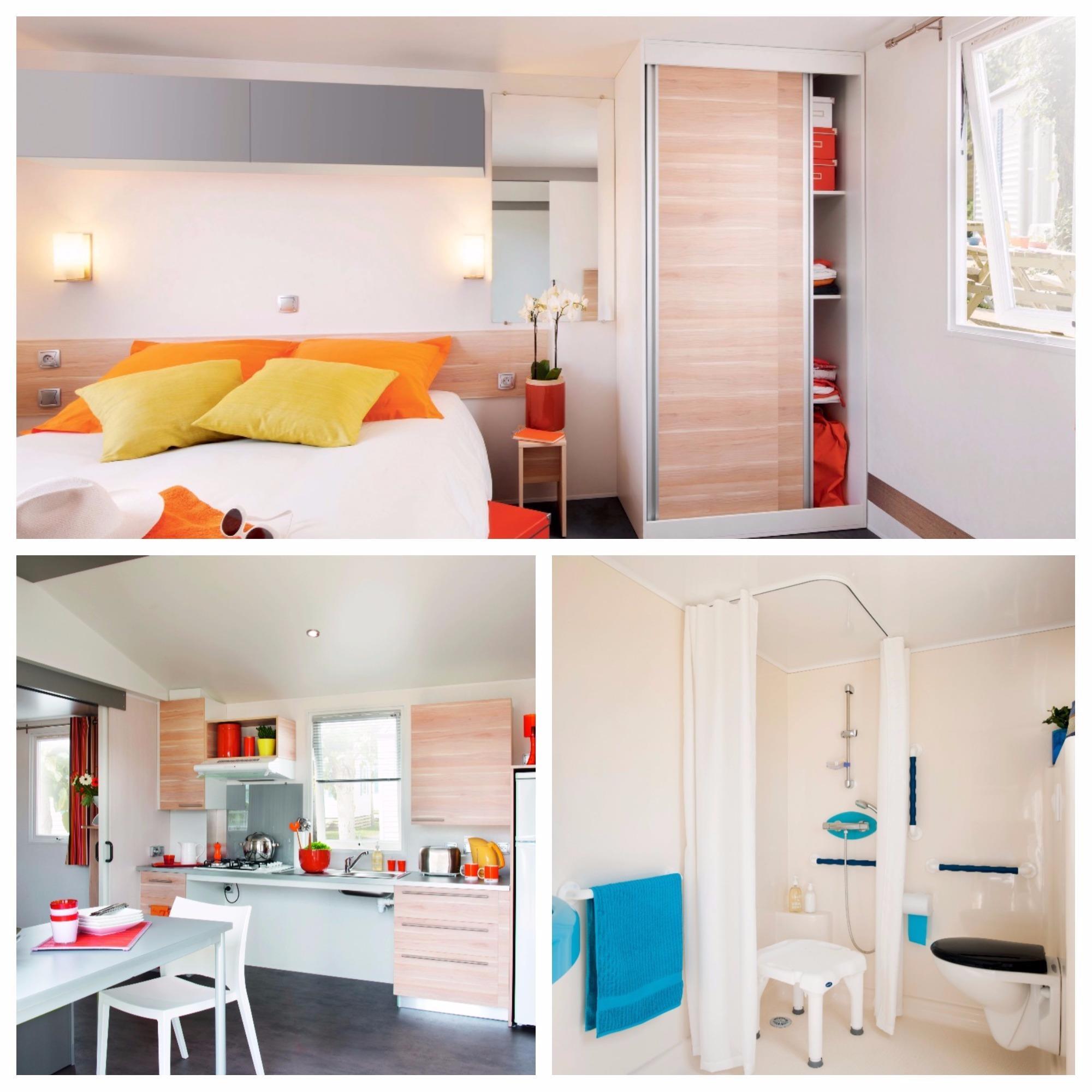 Location - Mobil Home Ciela Confort Pmr - 34M² - 2 Chambres - Climatisation Réversible Et Tv - Camping Resort La Rive