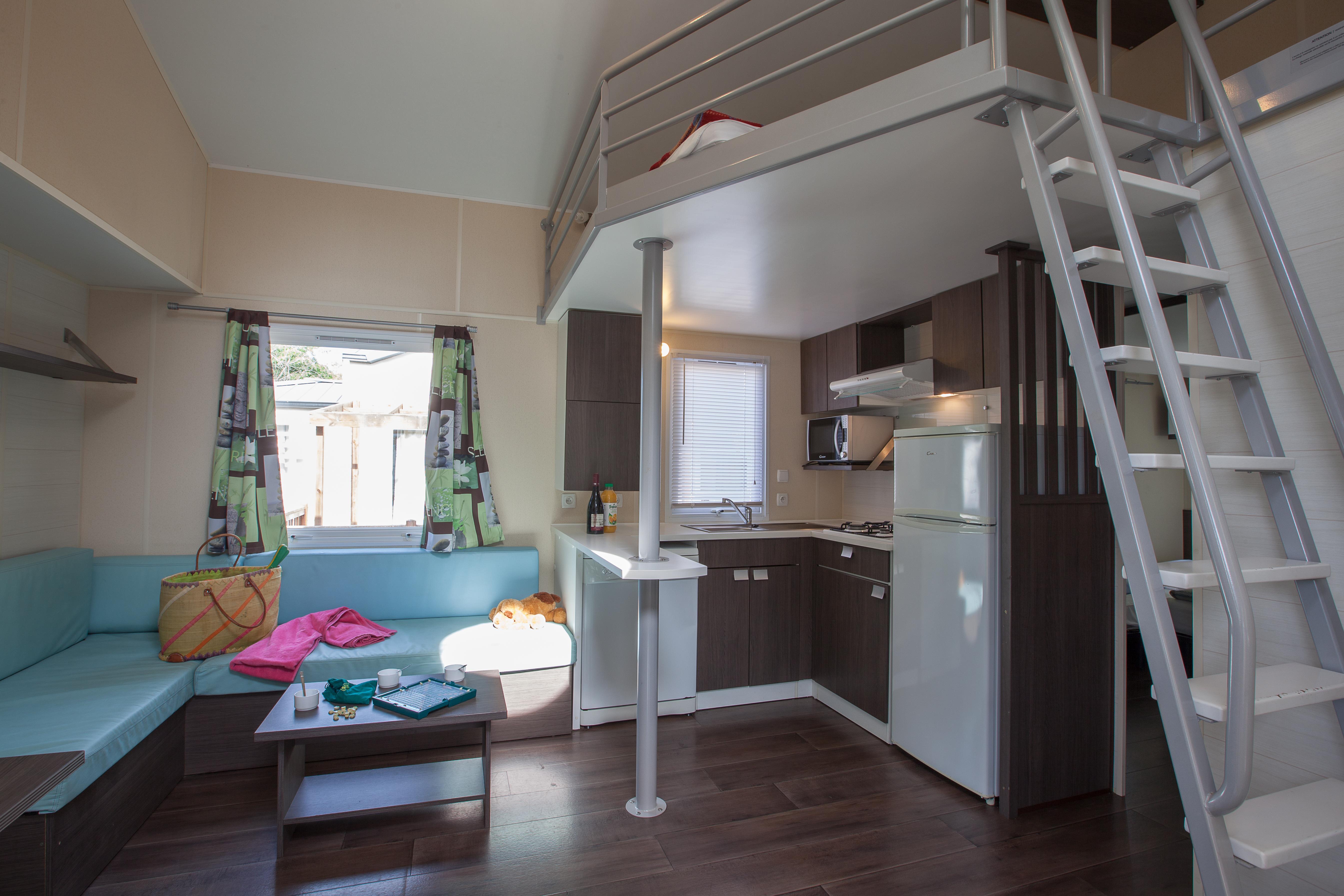 Location - Mobil Home Ciela Family Mezzanine - 40M² - 3 Chambres - Camping Resort La Rive