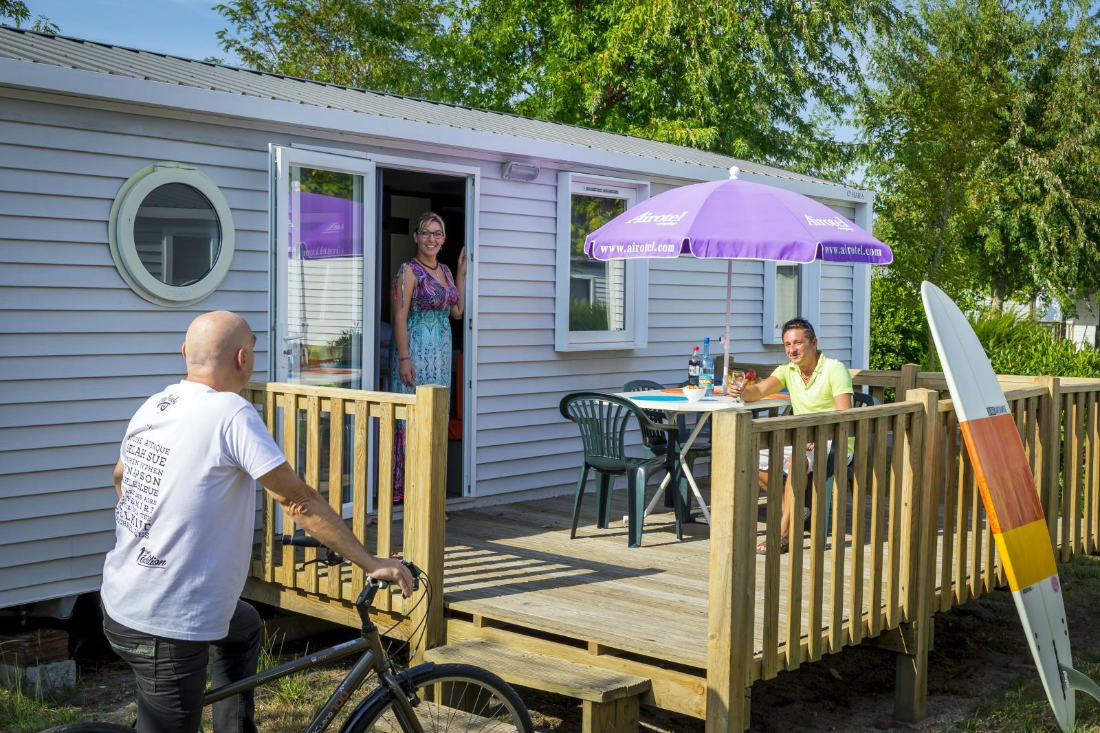 Location - Mobil Home Ciela Confort - 33M² - 3 Chambres - Climatisation Réversible Et Tv - Camping Resort La Rive