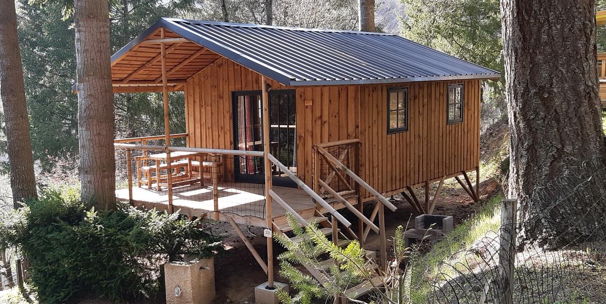 Location - Cabane Marilhou De 40.50M² Dont Terrasse (2 Chambres) Avec Tv - - Flower Camping Le Belvédère