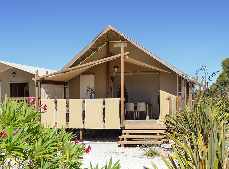 Location - Tente Jungle De 20M² (2 Chambres) - Avec Évier Eau Froide - Sans Sanitaires - Flower Camping Le Belvédère
