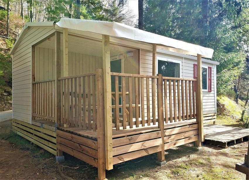 Location - Mobil-Home Sianne De 29M² (2 Chambres) Avec Terrasse Intégrée - Flower Camping Le Belvédère