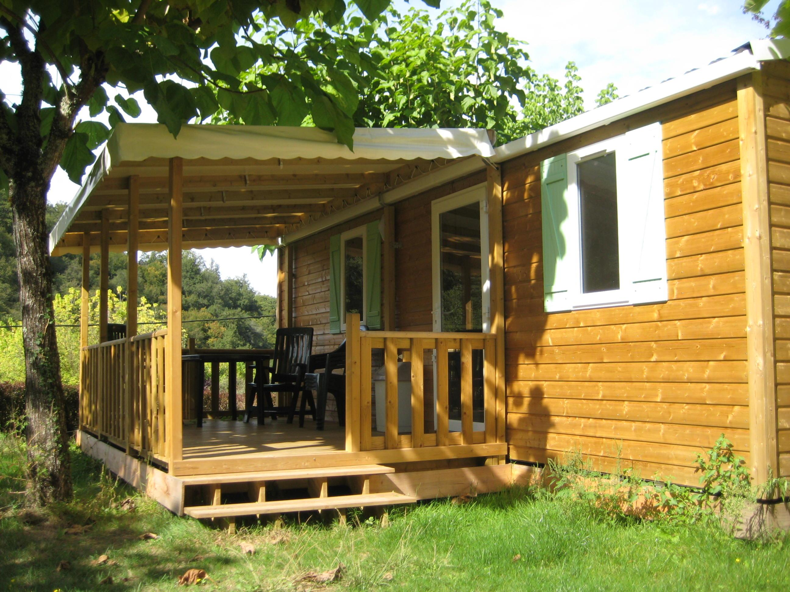 Accommodation - Mobil Home Super Mercure  30M² - 2 Bedrooms With A Covered  Terrace - Camping La Chatonnière
