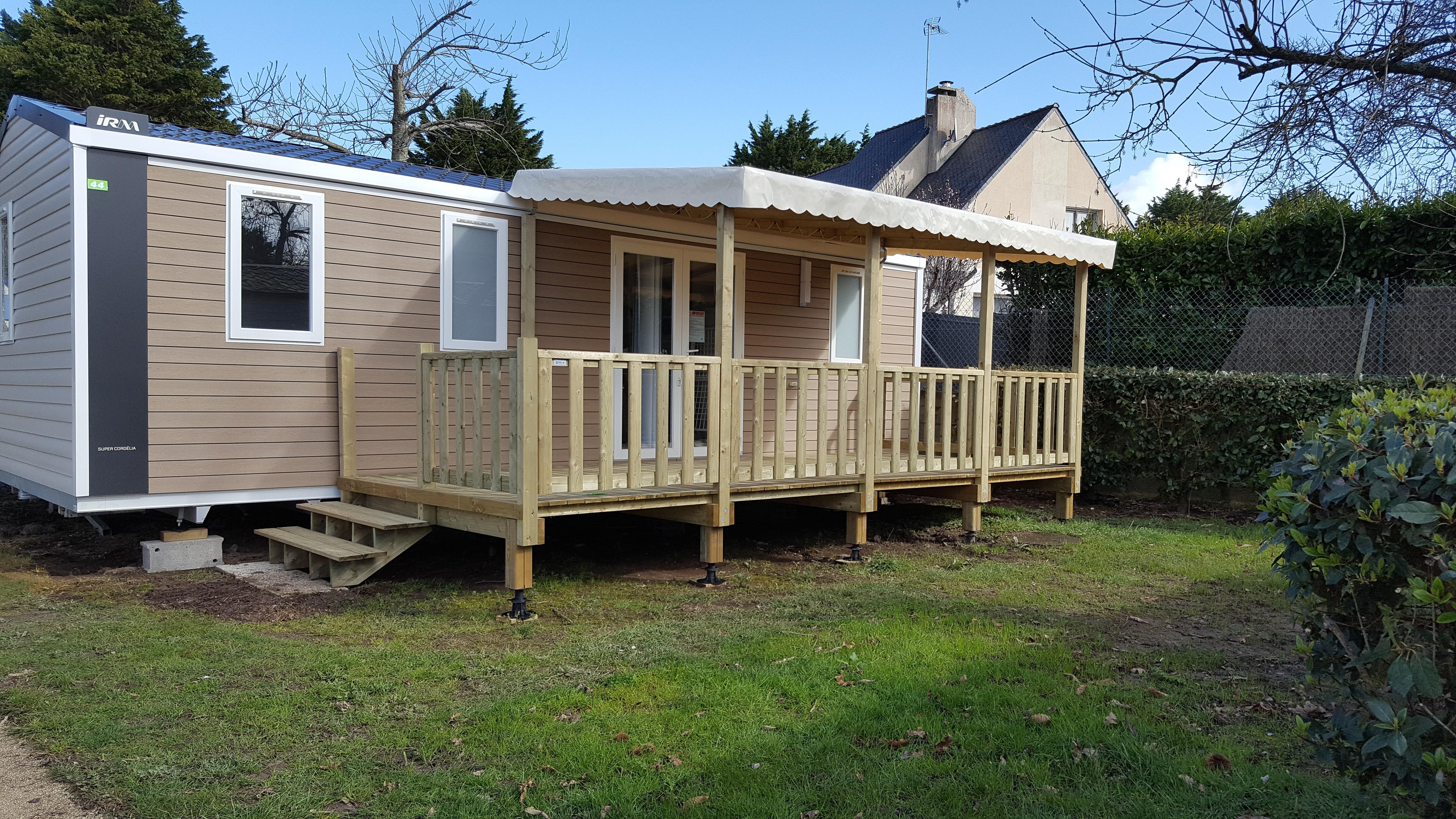 Location - Mobilhome Irm 3 Chambres Avec Terrasse Couverte  Nouveauté 2019 - Camping Pen Palud