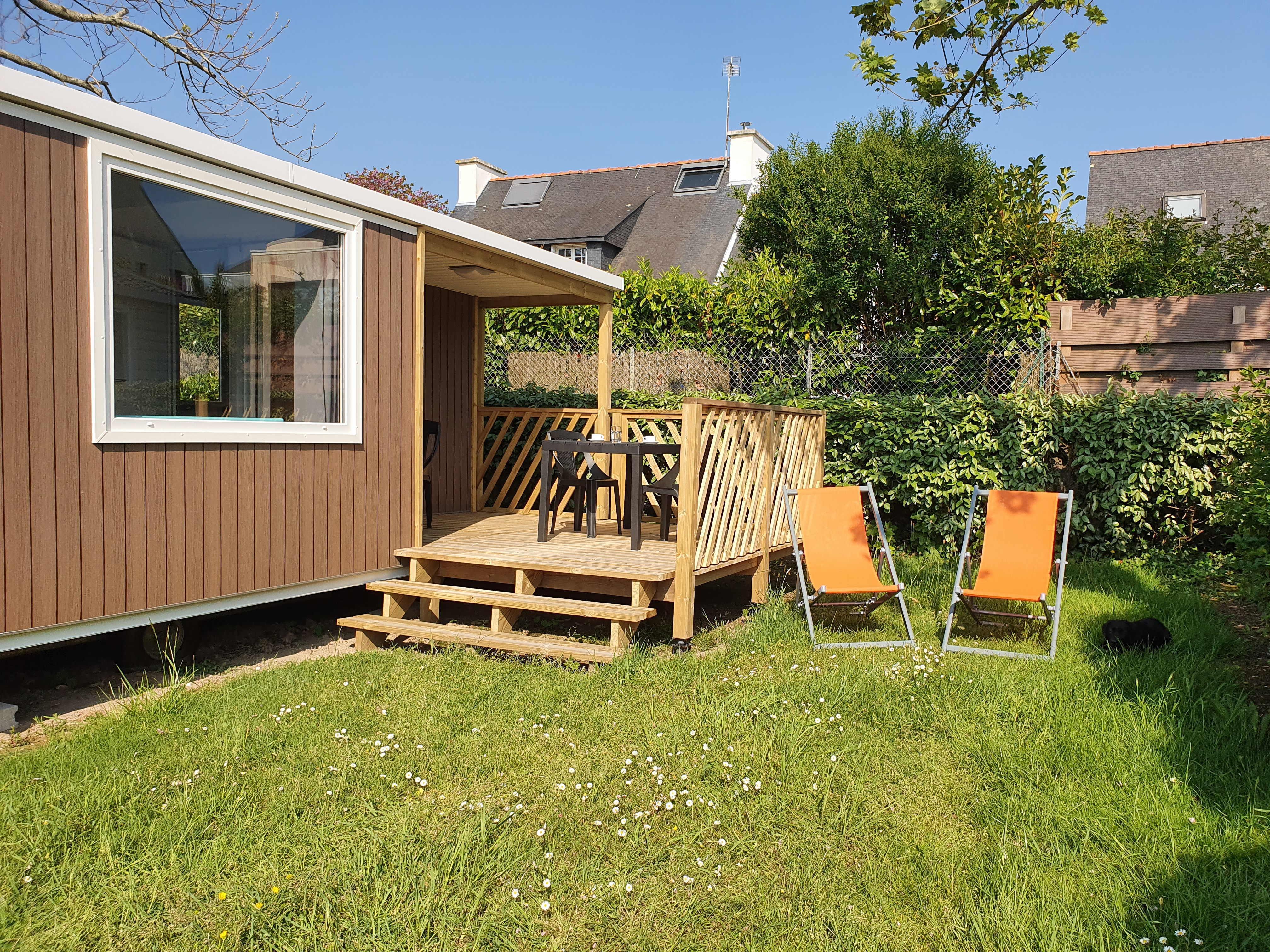 Location - Mobilhome Loggia 2 Chambres 27 M2 Avec Grande Terrasse - Camping Pen Palud