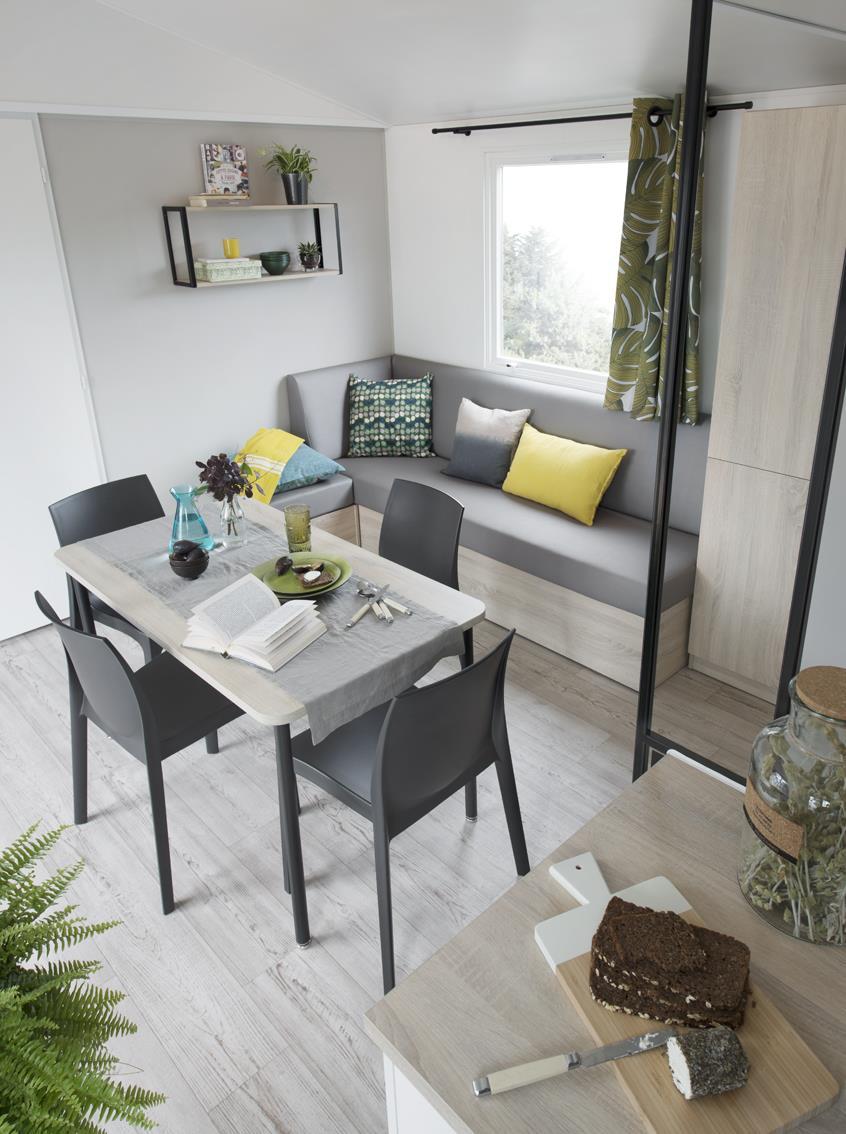 Location - Premium Caraïbes 3 Chambres 2 Salles D'eau 40M² - Camping Le Cabellou Plage