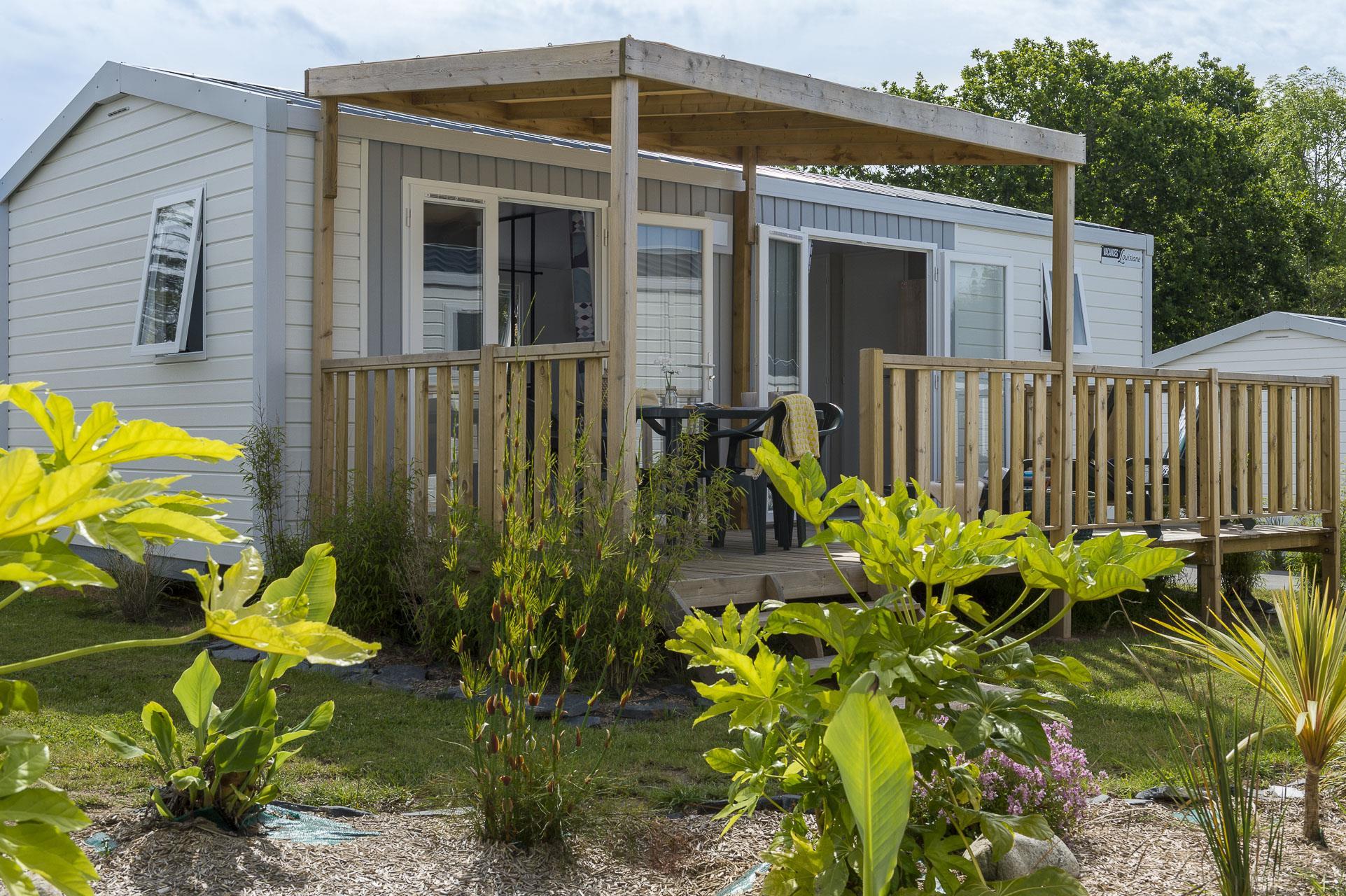 Location - Premium Grand Large 2 Chambres 30M² - Camping Le Cabellou Plage