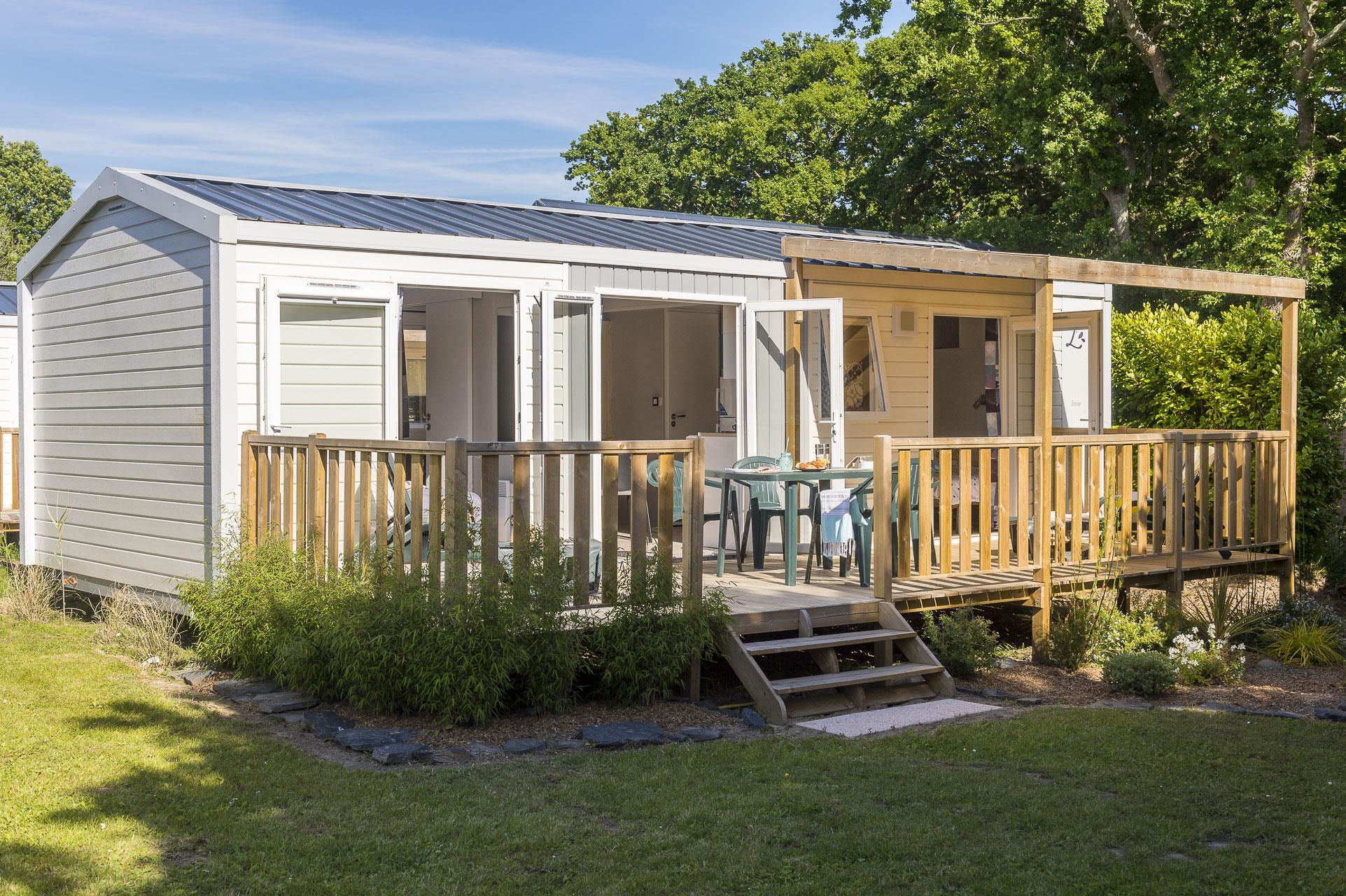 Location - Premium Iroise 2 Chambres 2 Salles D'eau 32M² - Camping Le Cabellou Plage