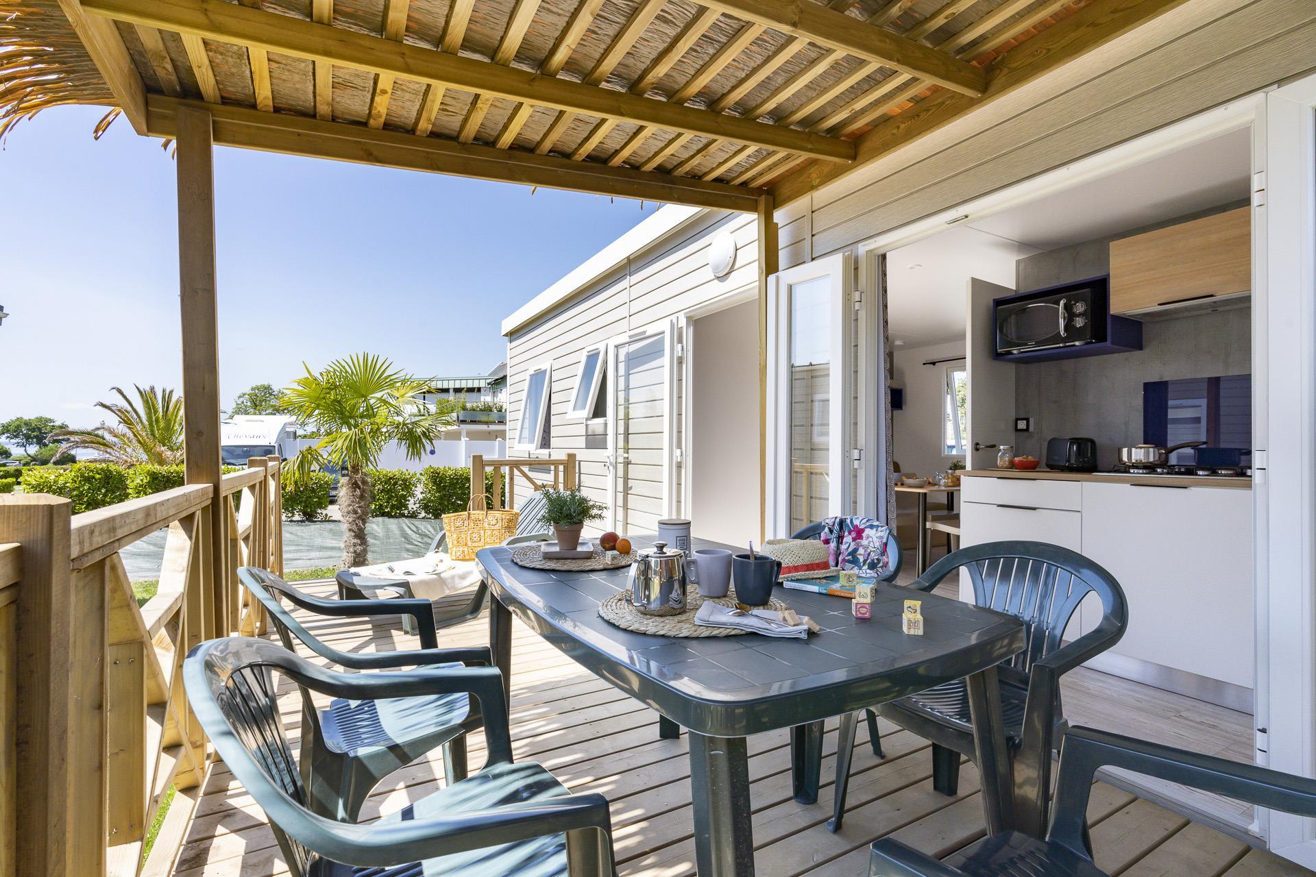 Location - Évasion Belle-Étoile 3 Chambres 32M² - Camping Le Cabellou Plage