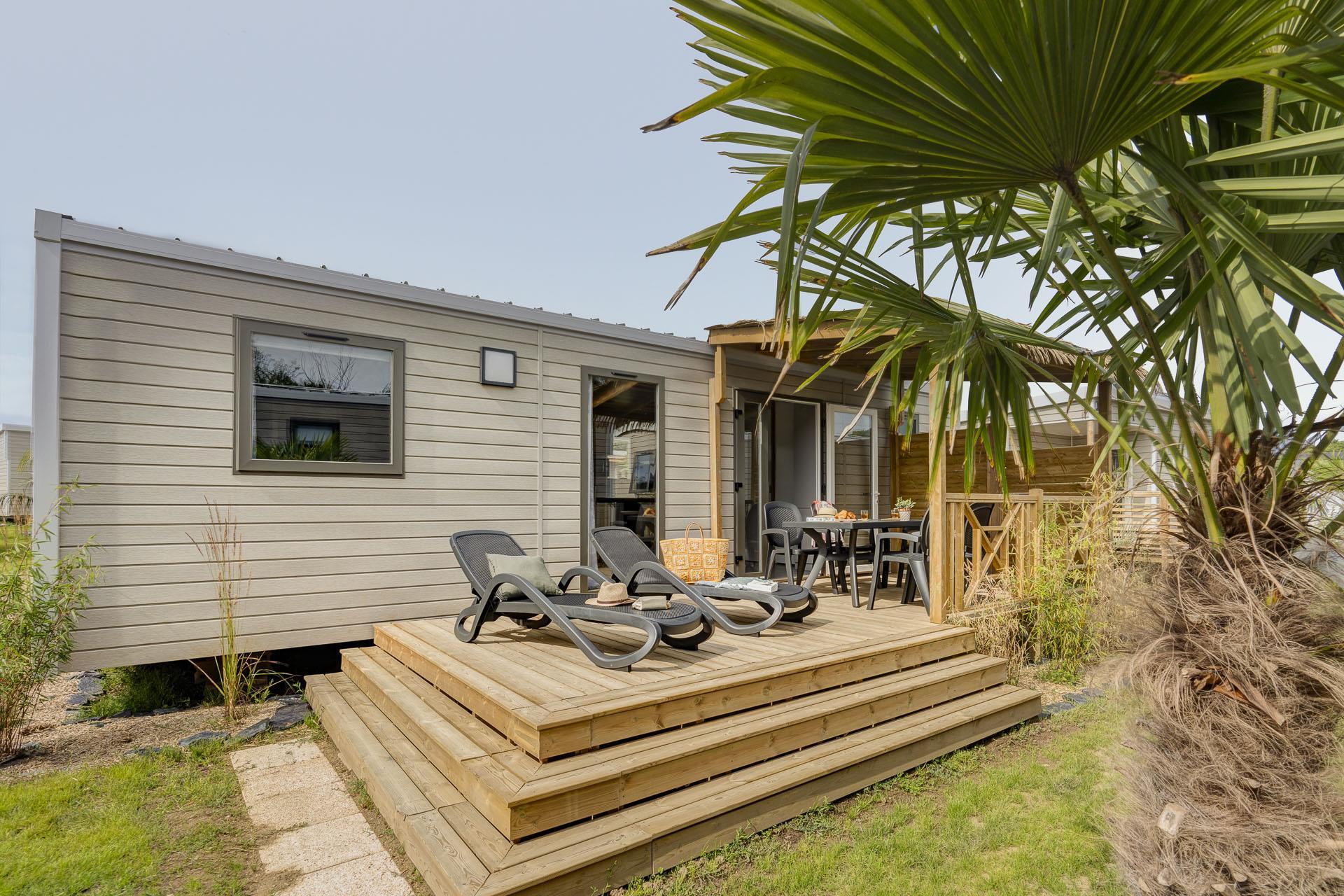 Location - Prestige Lagoon 3 Chambres 36M² - Camping Le Cabellou Plage