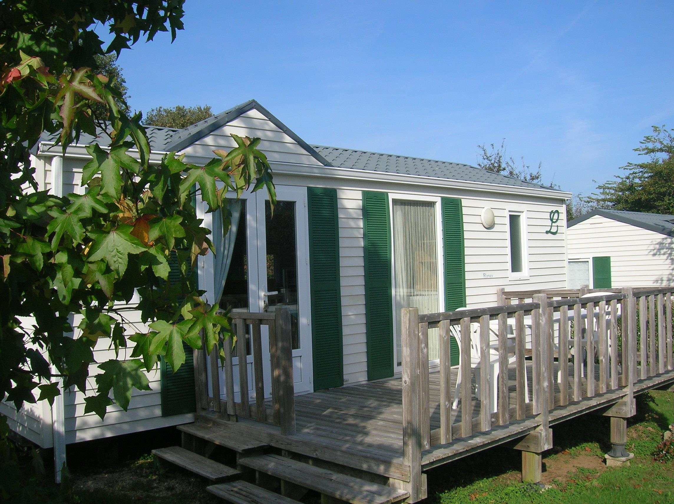 Location - Mobil-Home Louisiane 30M² - 2 Chambres - Camping Des Chaumières