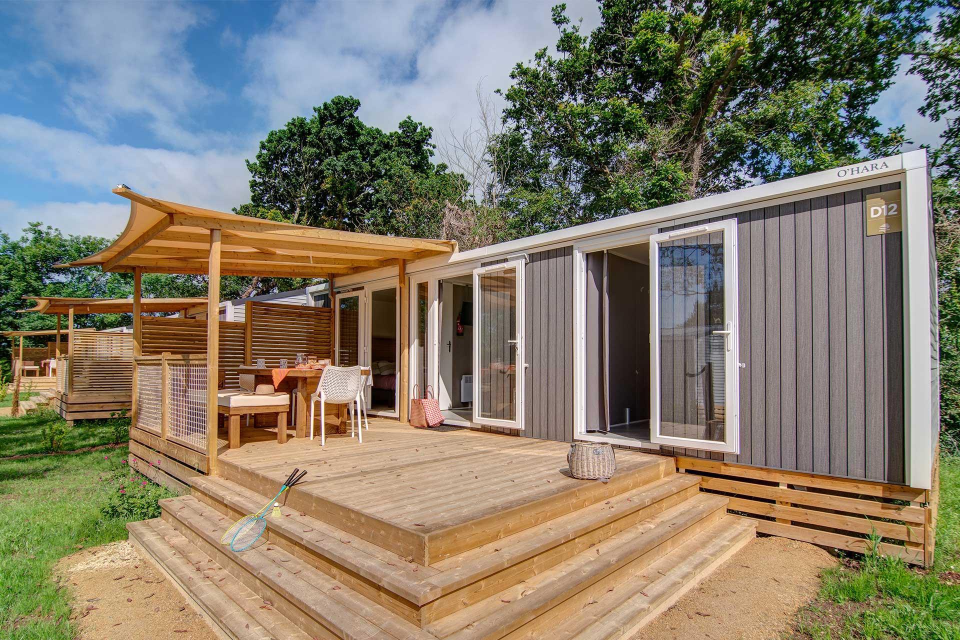 Location - Cottage Naïade 2 Chambres 2 Salles De Bain + Climatisation Premium - Camping Sandaya Les Deux Fontaines