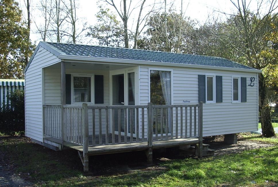 Location - Mobil Home Standard Pacific Avec Tv Dimanche- 2 Chambres + Terrasse - Camping Baie de Térénez