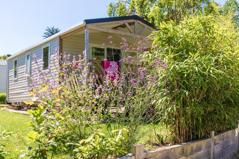 Location - Mobil Home Confort Loggia Bay Avec Tv - 2 Chambres + Terrasse 2019 - Camping Baie de Térénez