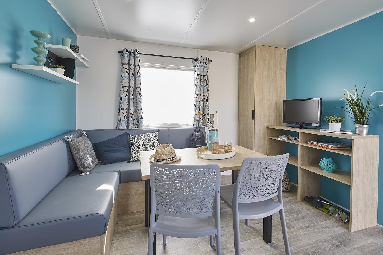 Location - Mobil Home Confort Terenez 2020 Avec Tv - 2 Chambres + Terrasse - Camping Baie de Térénez
