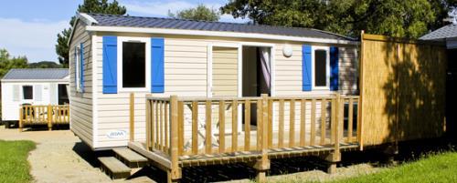 Location - Mobil Home Eco Domino - 2 Chambres + Terrasse 2/5 Pers.Dimanche Au Dimanche - Camping Baie de Térénez