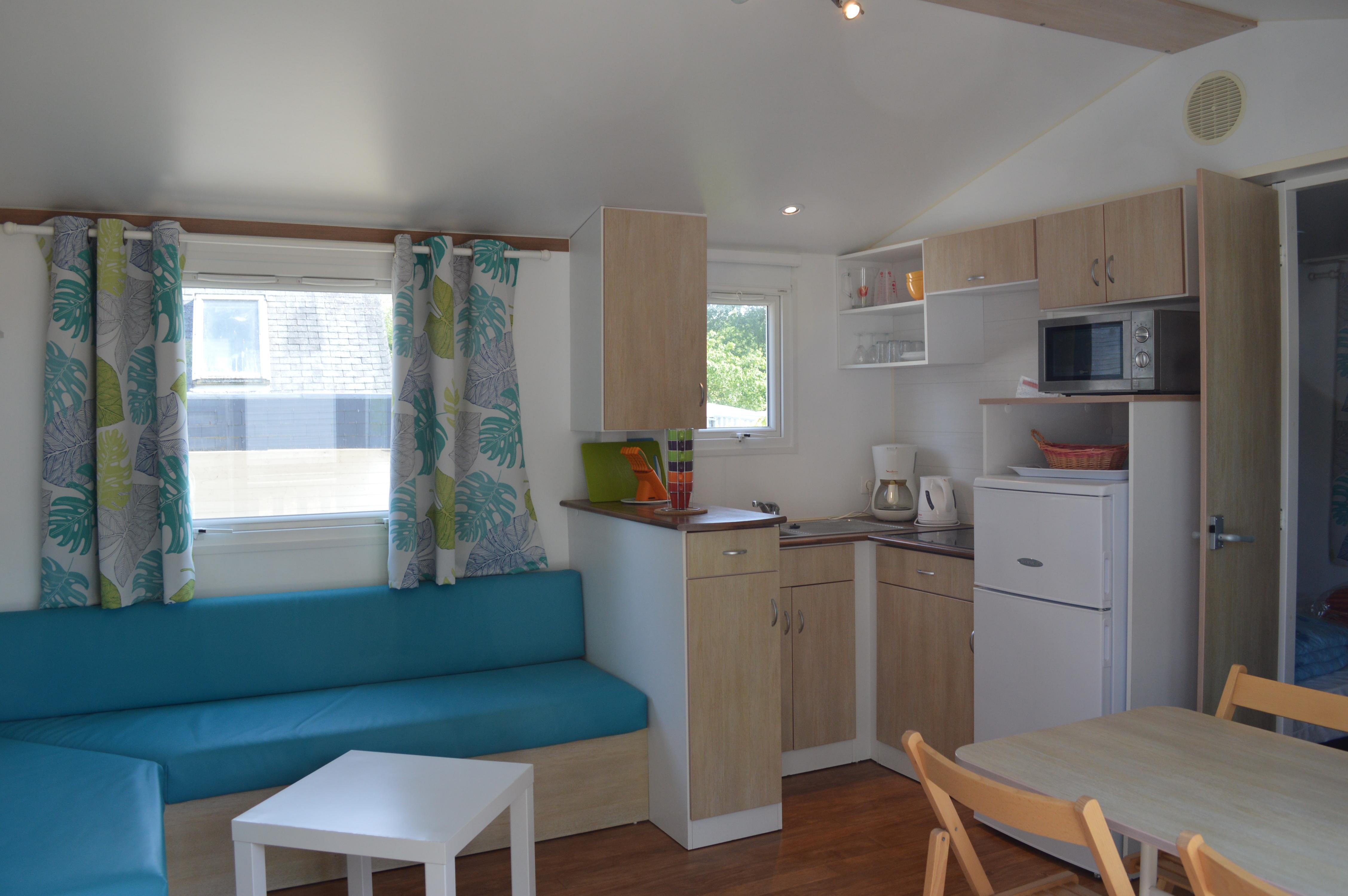 Location - Mobil Home Standard Flores +Tv Dimanche - 2 Chambres +Terrasse - Camping Baie de Térénez