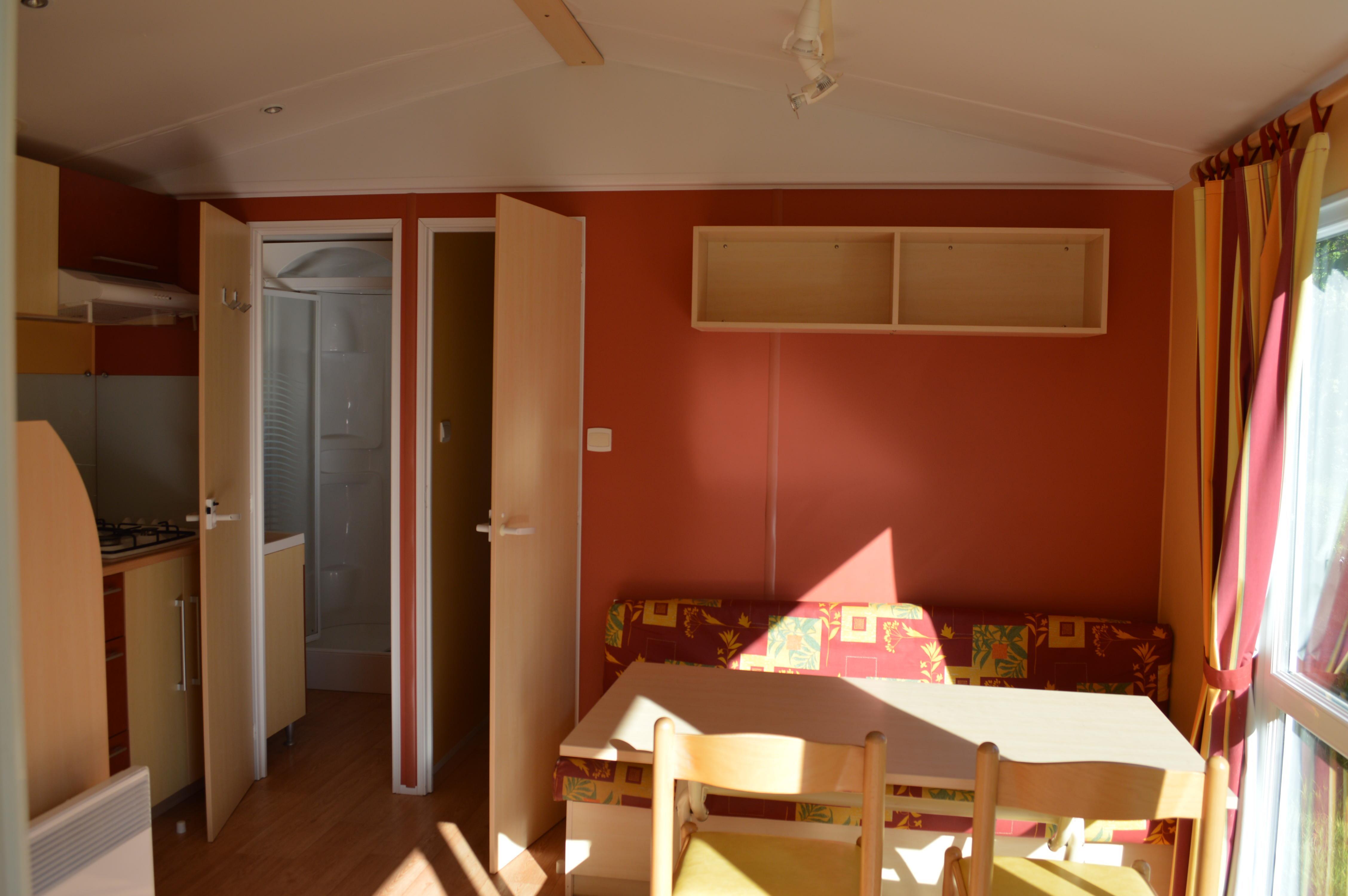 Location - Mobil Home Standard Savanah Avec Tv Dimanche- 2 Chambres + Terrasse - Camping Baie de Térénez