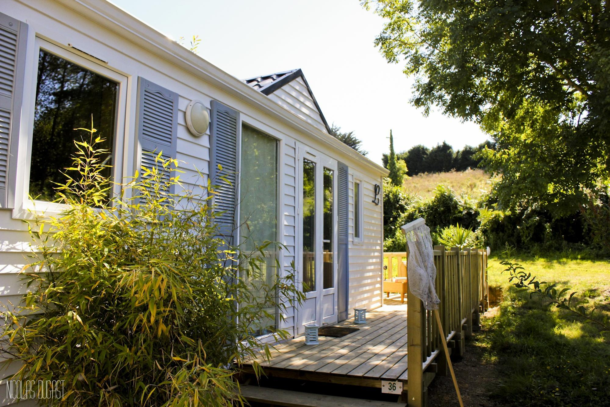 Location - Mobil Home Standard Savanah  Avec Tv- 2 Chambres + Terrasse - - Camping Baie de Térénez