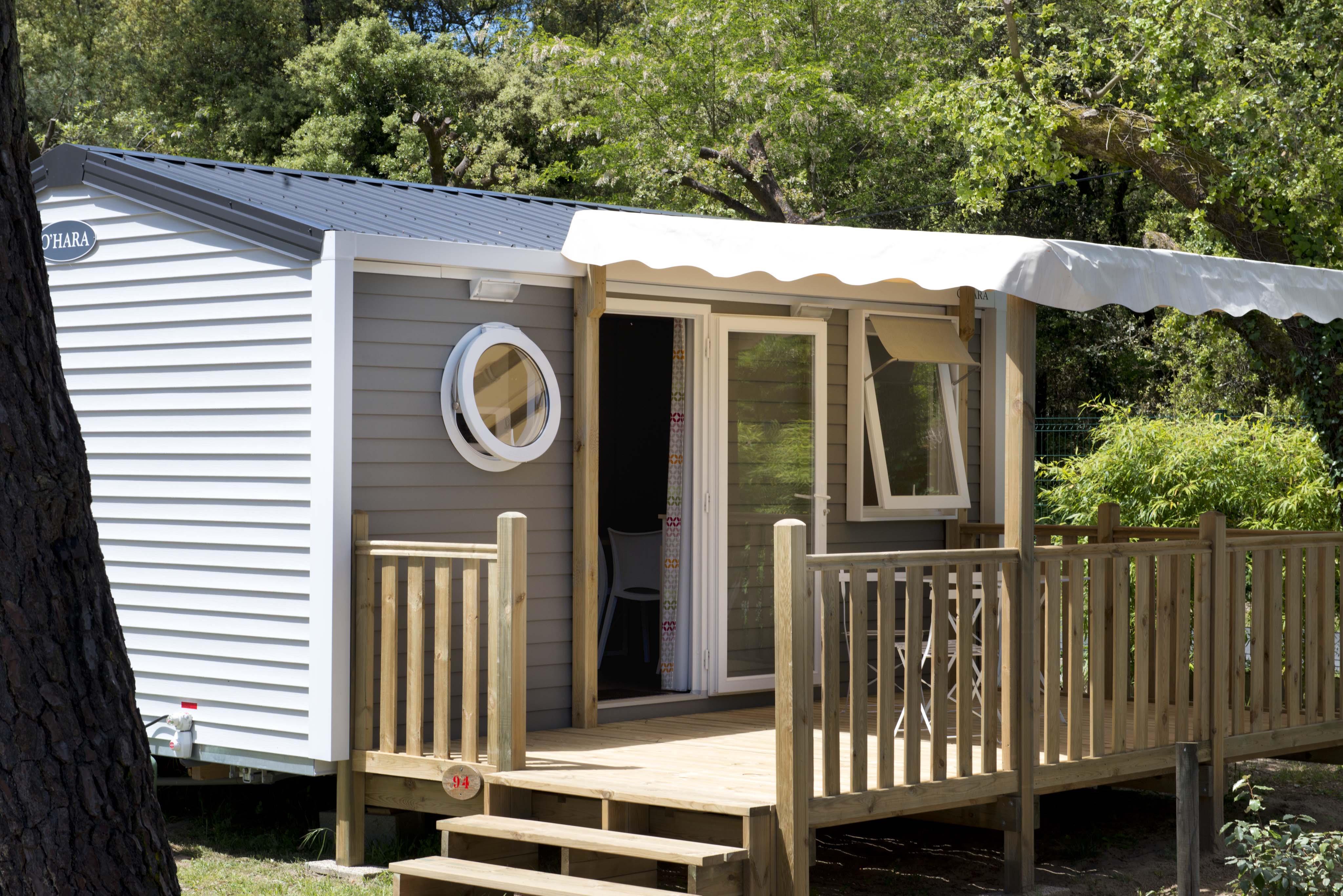 Mobil-home Confort+ 18,60 m² (1 chambre) + terrasse bois semi-couverte