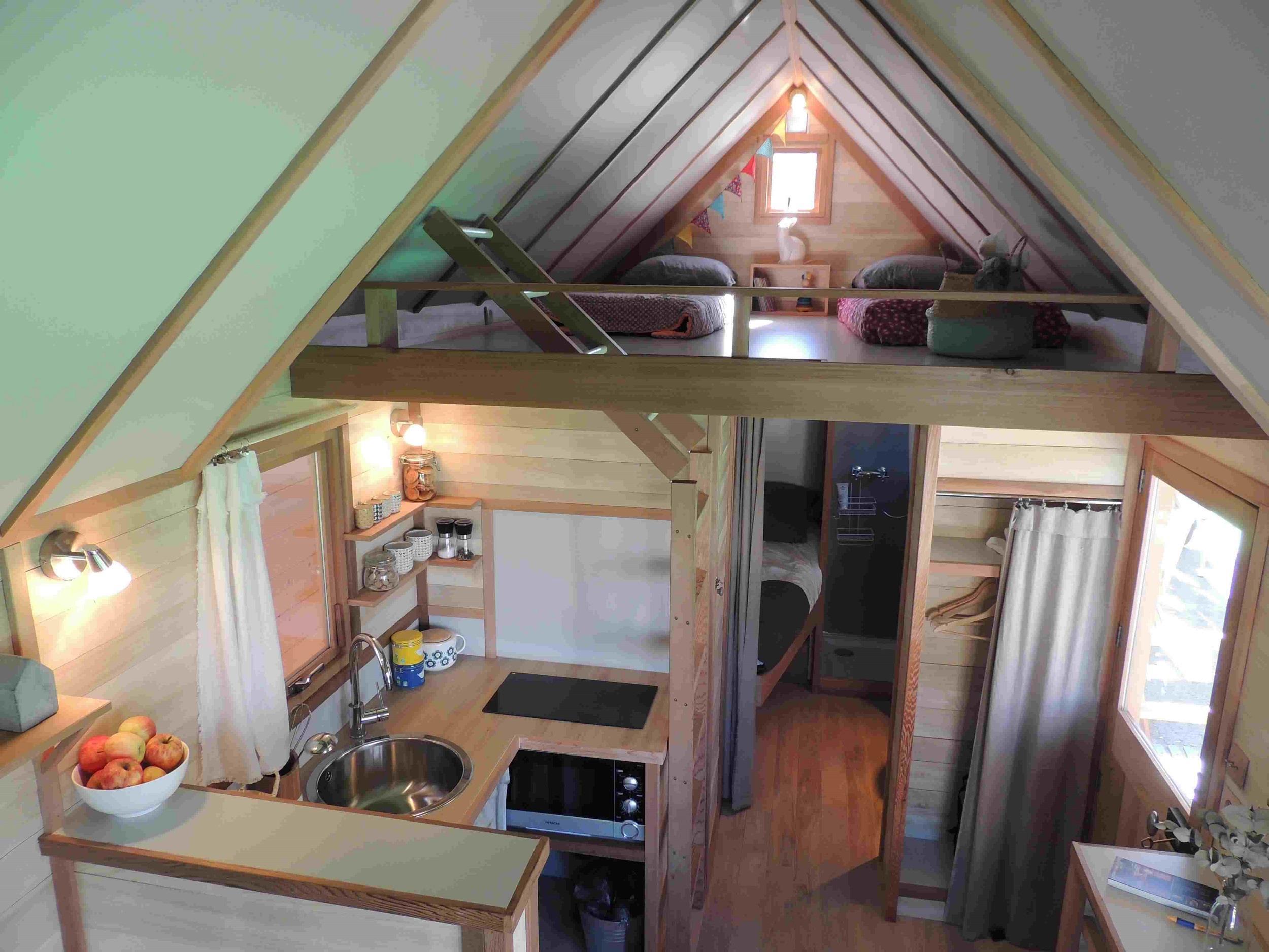 Location - Cabane Tout Confort En Bois 4 Couchages - Camping Les Baleines