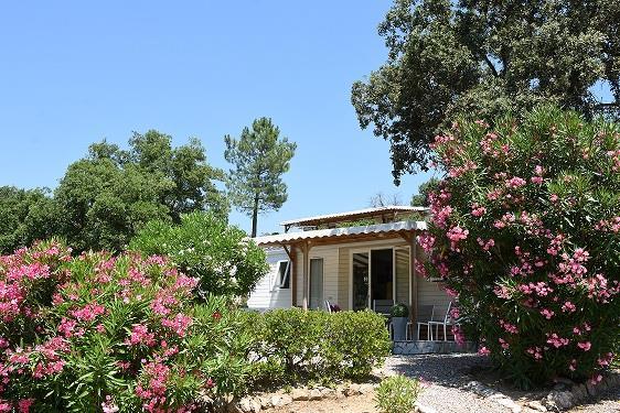 Location - Cottage Espace A - 2 Chambres - Sans Climatisation - 32M² - Camping Castel Domaine de la Bergerie