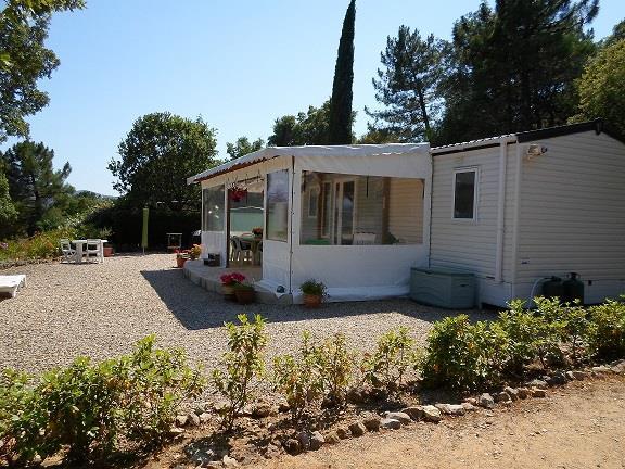 Location - Cottage Espace B - 2 Chambres - Sans Climatisation - 36M² - Camping Castel Domaine de la Bergerie