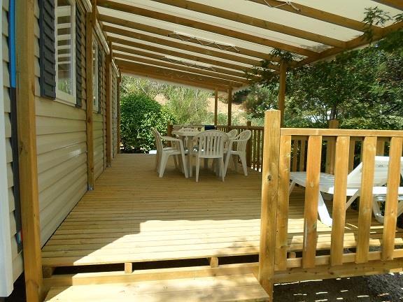 Location - Cottage A - 3 Chambres - Climatisation - 33M² - Camping Castel Domaine de la Bergerie