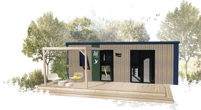 Mobilhome 30 m² CONFORT PLUS (2 chambres) + terrasse couverte