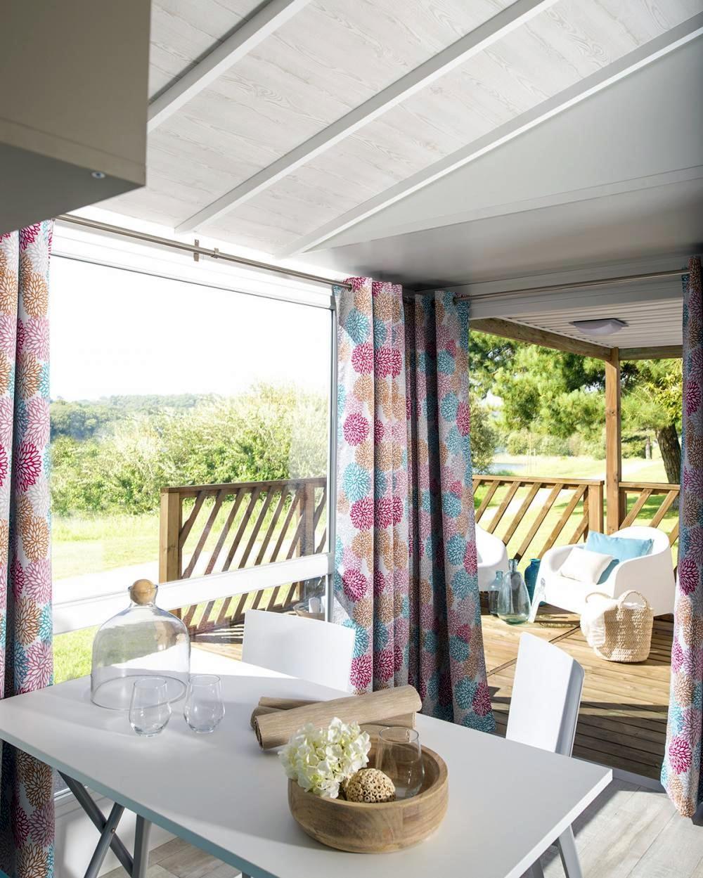 Location - Mobil Home Loggia 24.20 M² (2 Chambres) Climatisé - Camping Pegomas
