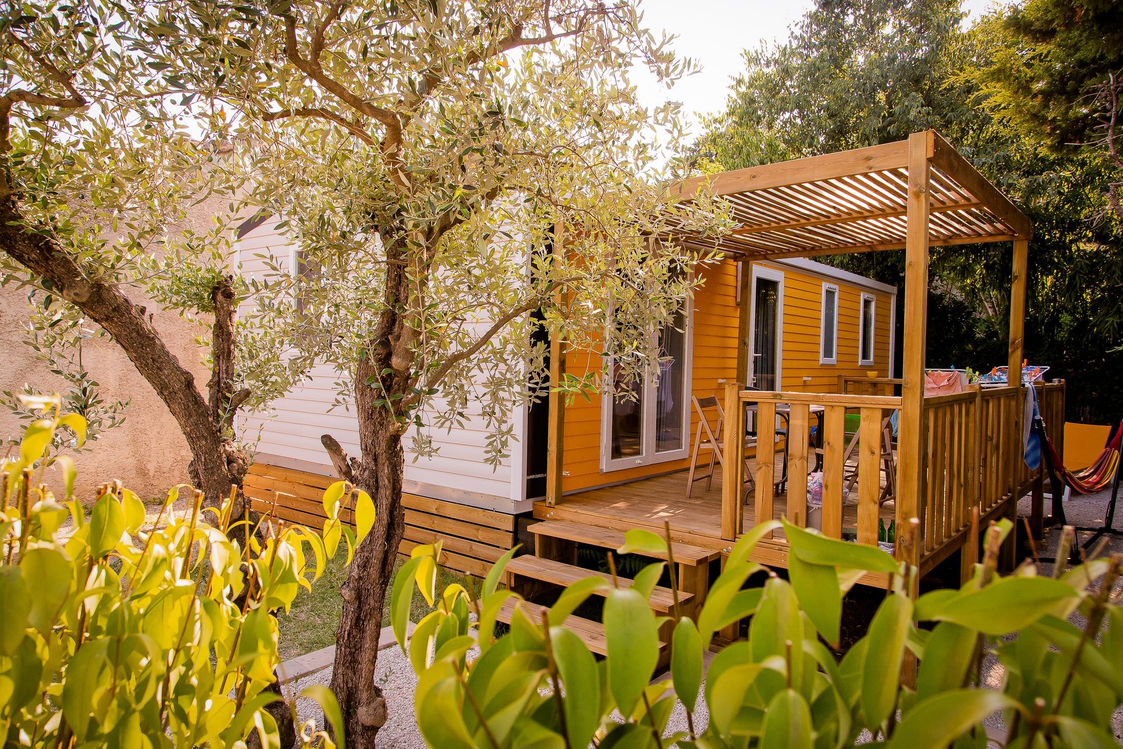 Location - Mobil Home Sun 3 Chambres Climatisé - Camping Pegomas