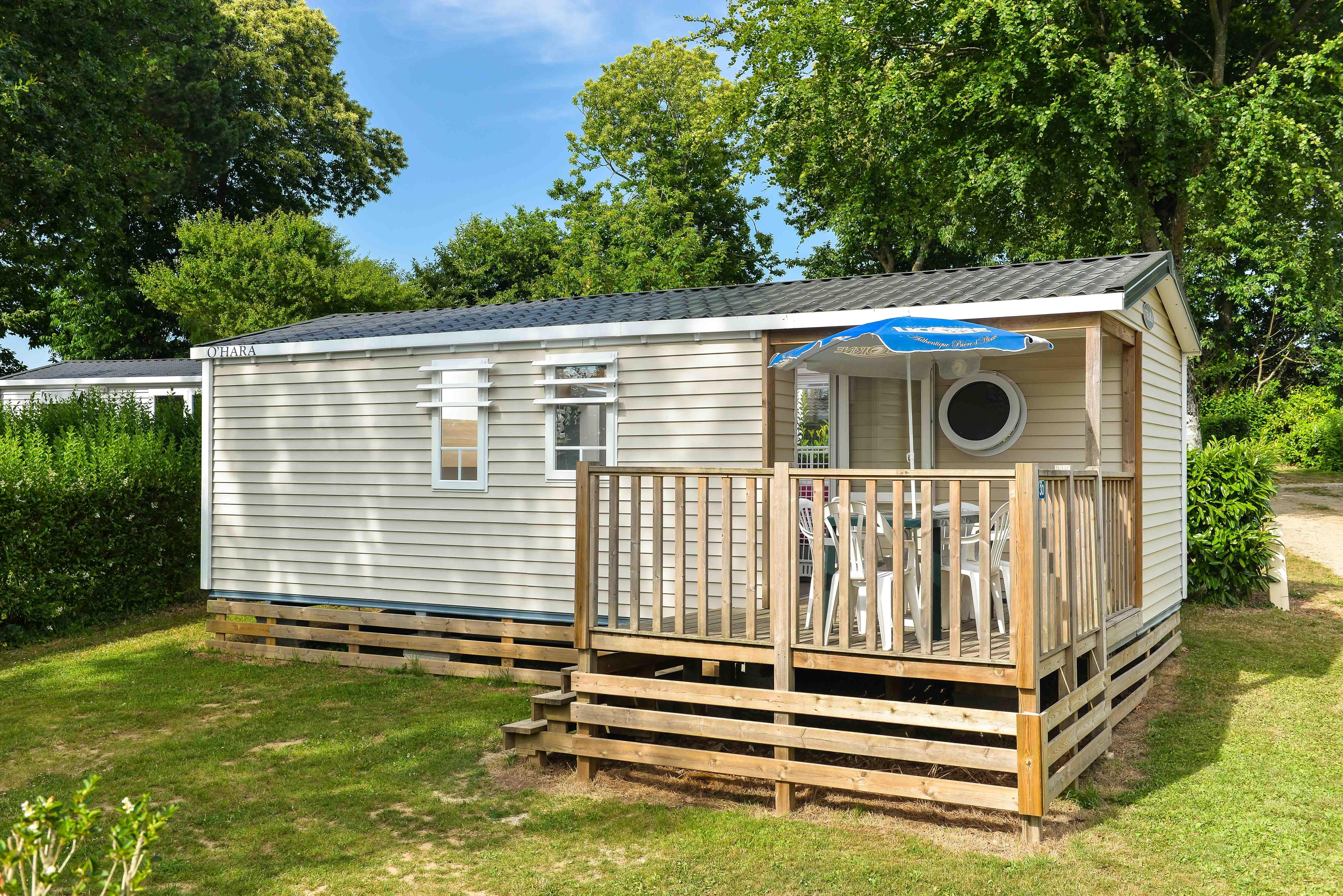 Location - Mobil Home Confort+ Arthur 31M² (3 Chambres) + Terrasse Semi-Couverte - Flower Camping Le Kergariou