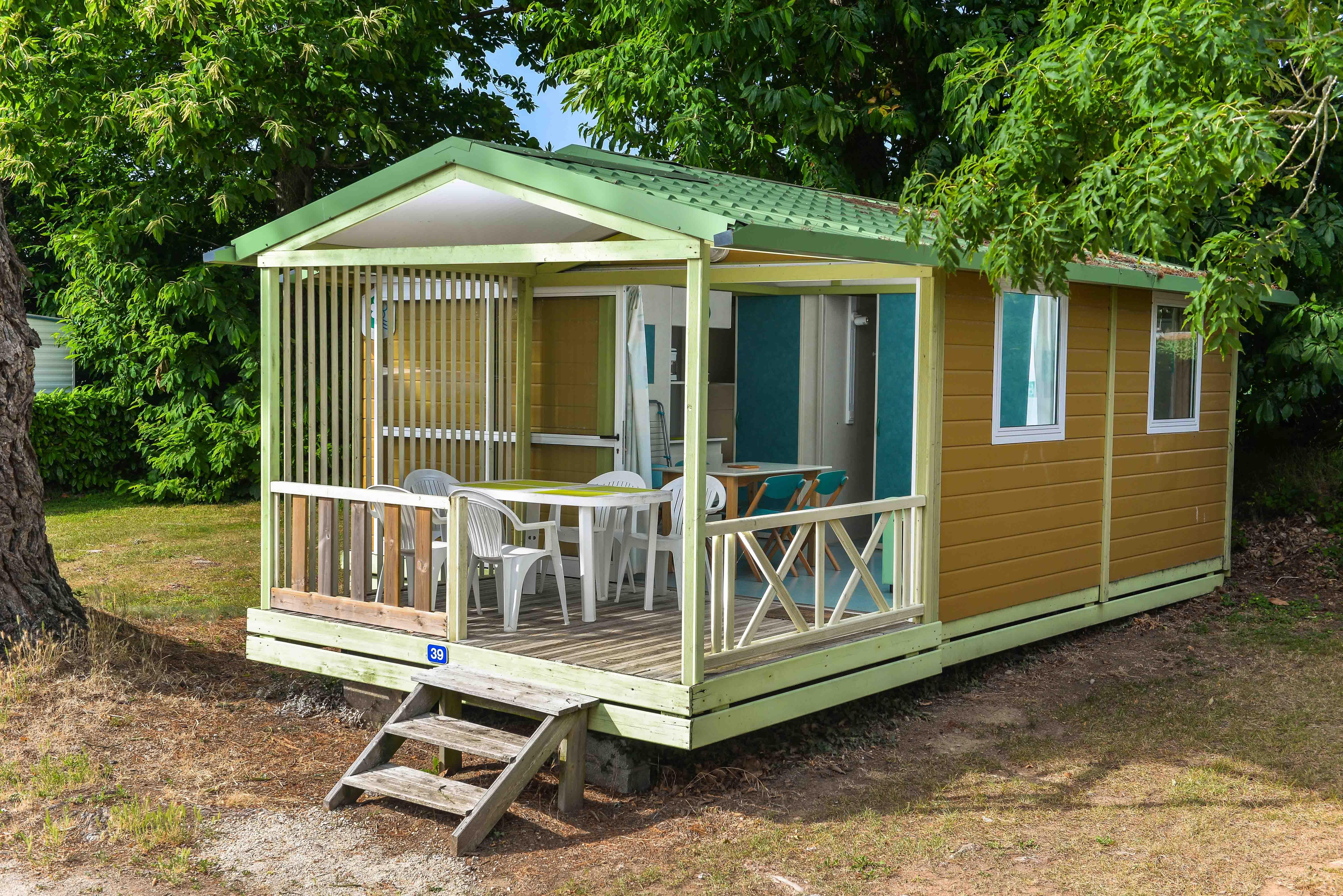 Location - Chalet Confort 25M² (2 Chambres ) + Terrasse Couverte - Flower Camping Le Kergariou