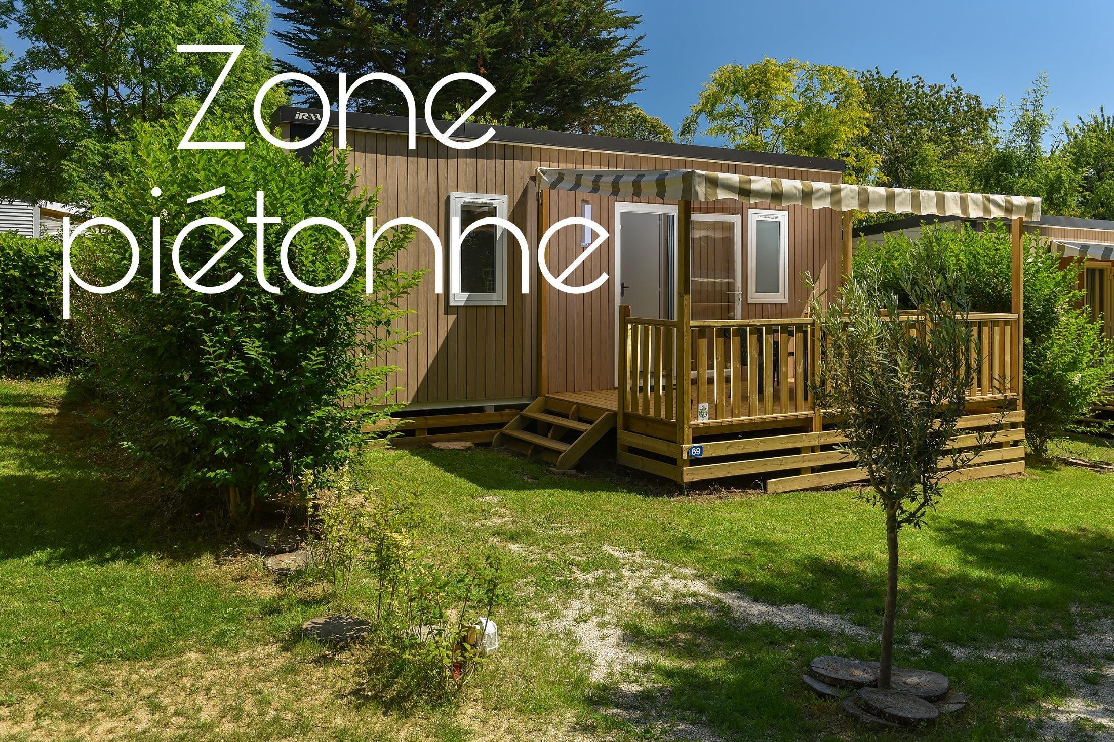 Location - Mobil-Home Premium Caélia 26M² (2 Chambres) + Terrasse Couverte / Zone Piétonne - Flower Camping Le Kergariou