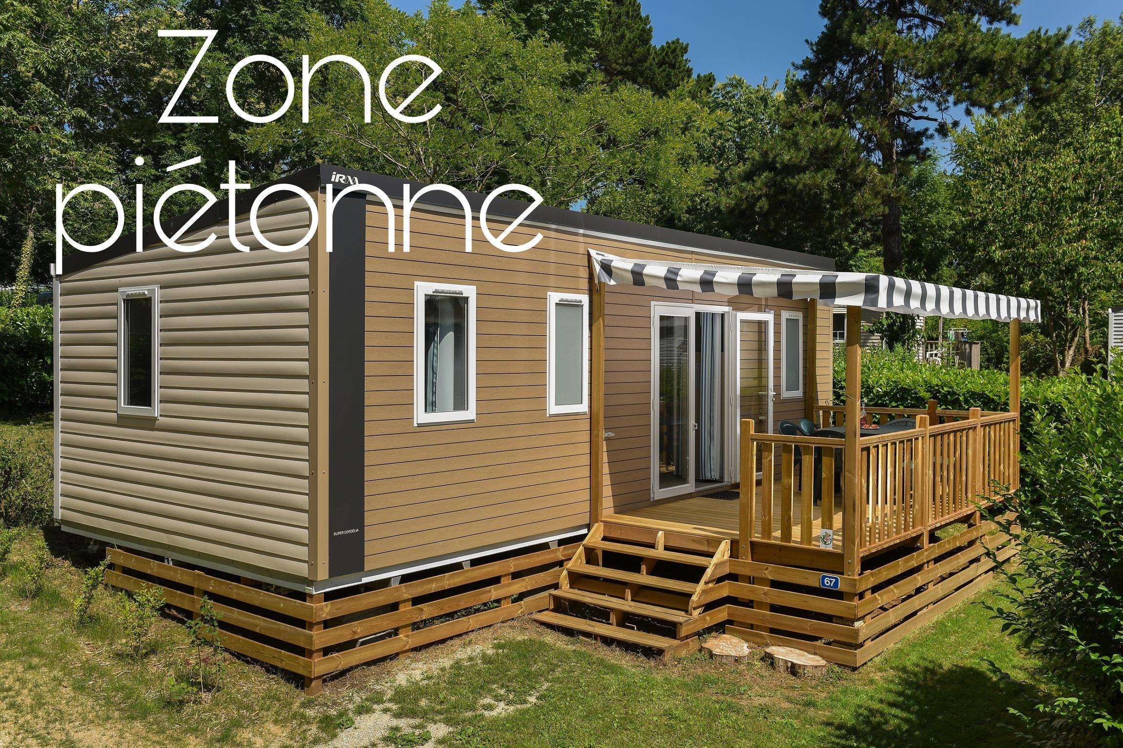 Location - Mobil-Home Premium Caélia 31M² (3 Chambres) + Terrasse Couverte / Zone Piétonne - Flower Camping Le Kergariou