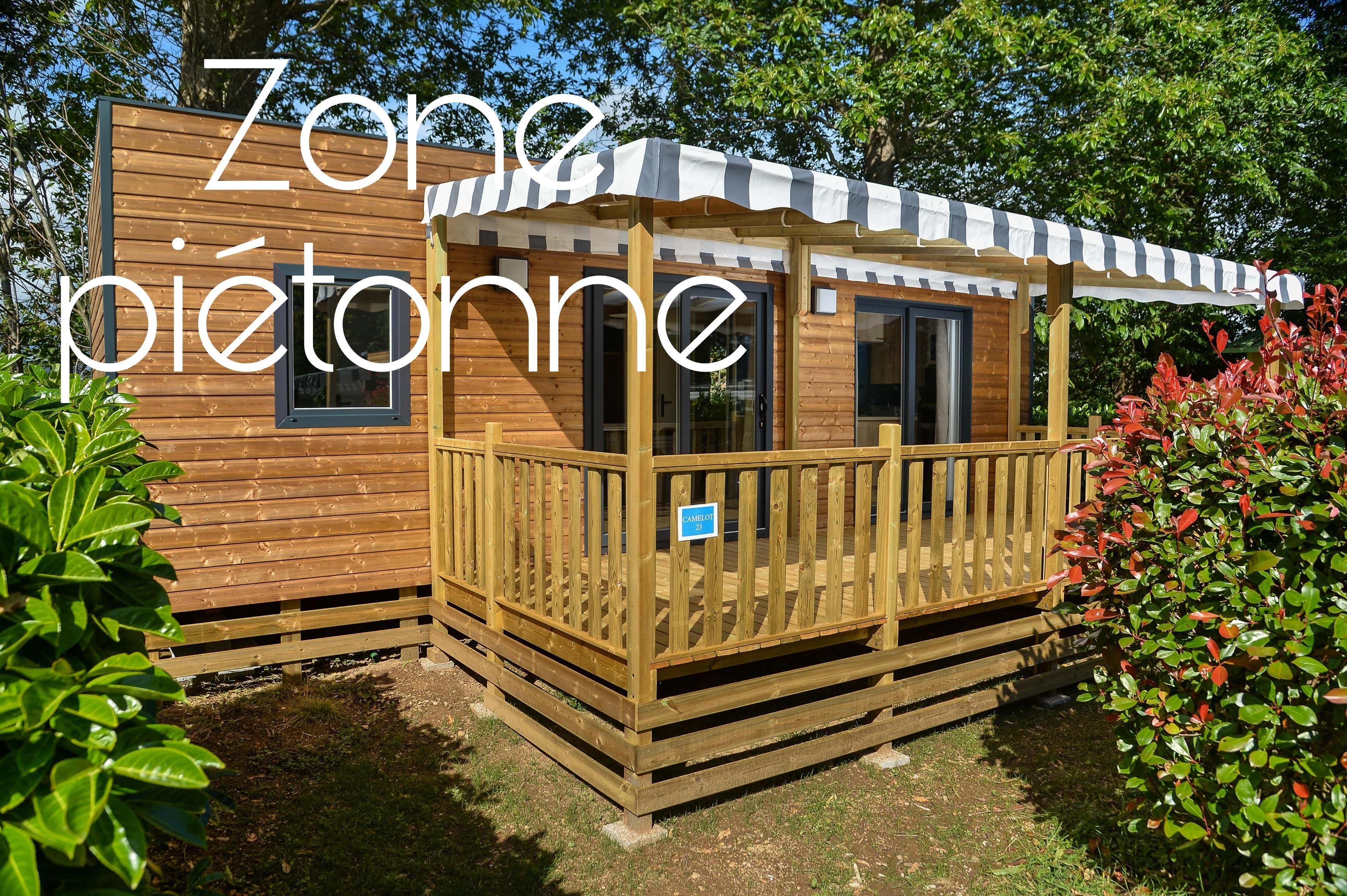 Location - Mobil-Home Vip Camelot 32M² (2 Chambres) + Grande Terrasse Couverte + Lave-Vaisselle / Zone Piétonne - Flower Camping Le Kergariou