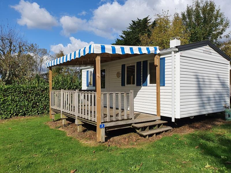 Location - Mobil-Home Eco Lagon 27M² (2 Chambres) + Terrasse Couverte - Flower Camping Le Kergariou