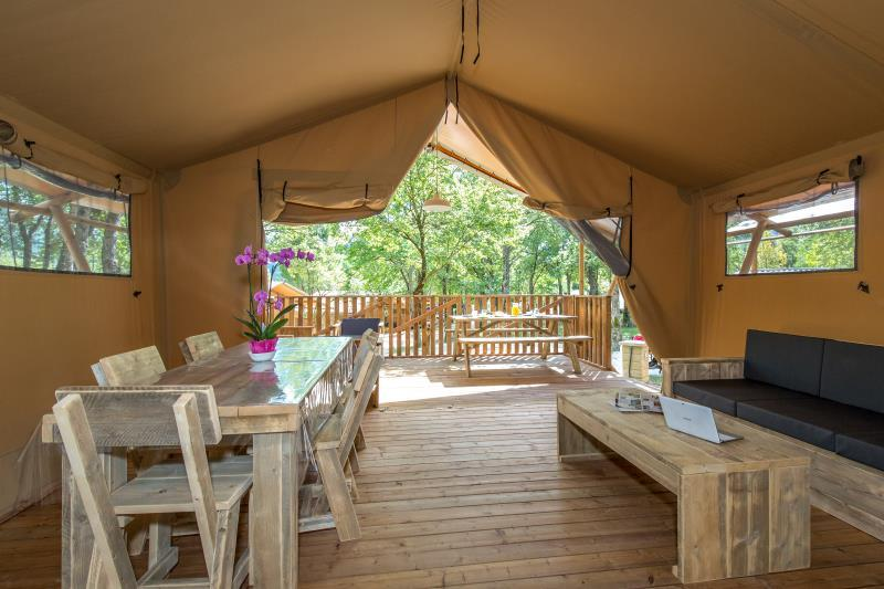 Accommodation - Tent Ciela Nature Lodge - 60M² - 2 Bedrooms - Camping Le Pommier